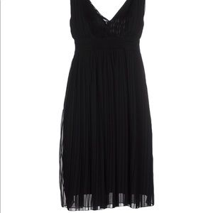 LBD pleated with v neck and open back